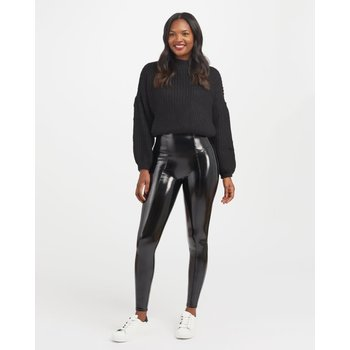 Spanx Faux Patent Leather Leggings by Spanx