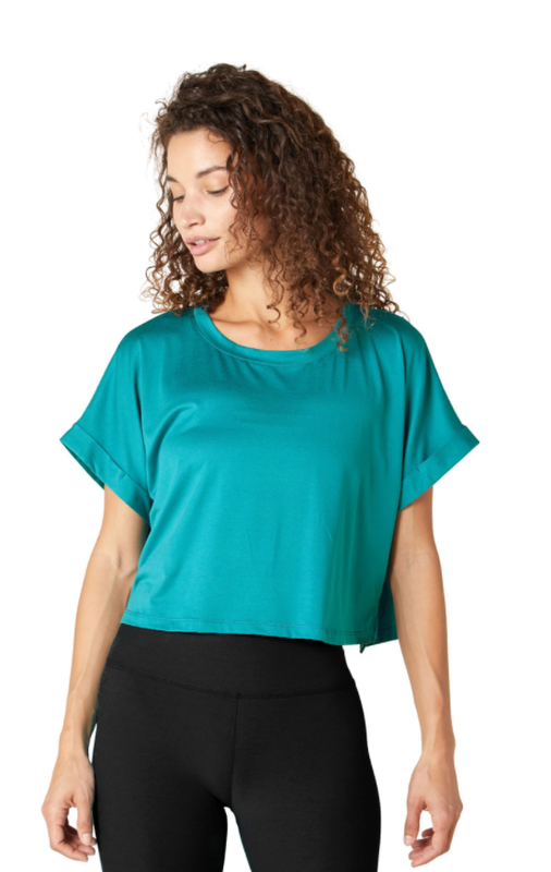 Beyond Yoga Never Been Boxy Cropped Tee
