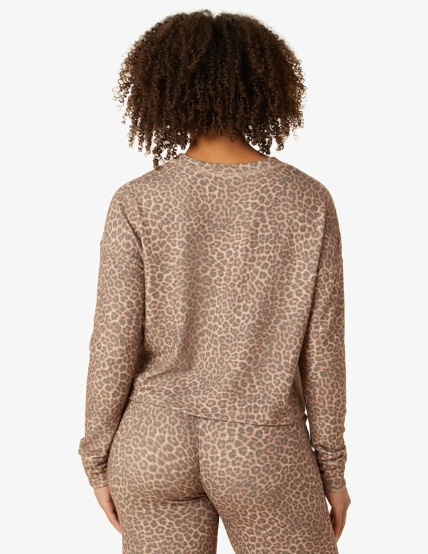 Beyond Yoga Brushed Up Cropped Pullover