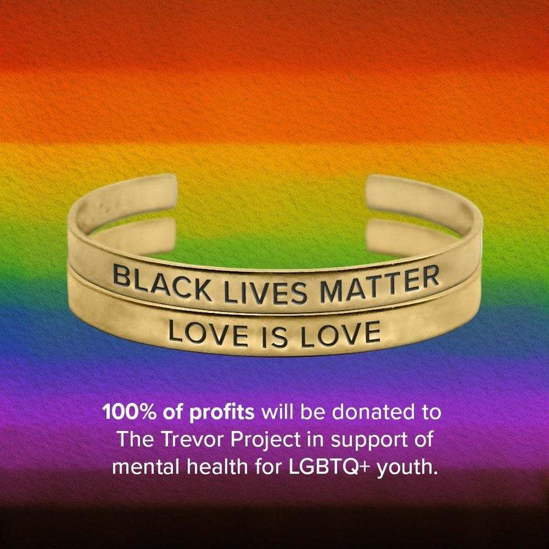 Bird + Stone Love is Love and Black Lives Matter Cuff Set