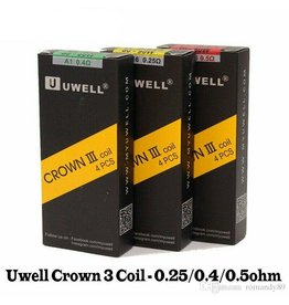 UWELL UWELL Crown 3 Sus316 0.5ohm 70-80w  (4 PACK)
