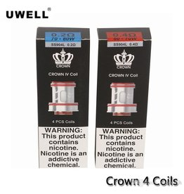 UWELL UWELL Crown 4 SS904L 0.2ohm 70-80w  (4 PACK)
