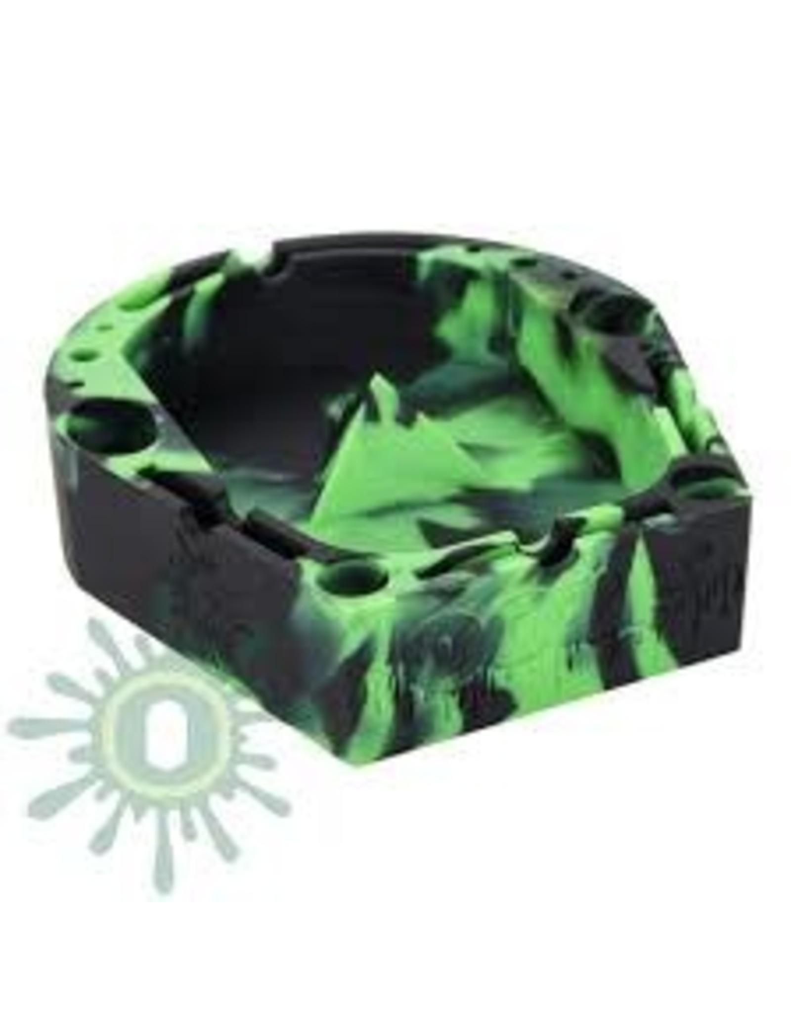 OOZE Banger Silicone Ashtray - GREEN / BLACK