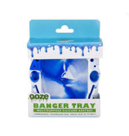 OOZE Banger Silicone Ashtray - BLUE / WHITE