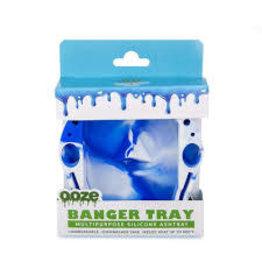 OOZE Banger Silicone Ashtray - BLUE / WHITE