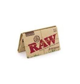 RAW RAW ORGANIC HEMP ARTESANO 1 1/4 WITH TIPS AND TRAY