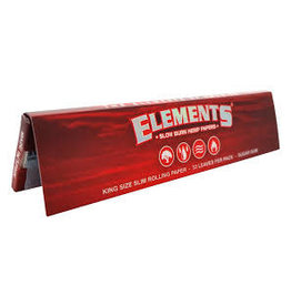 ELEMENTS ELEMENTS CONNOISSEUR KING SIZE WITH TIPS RED