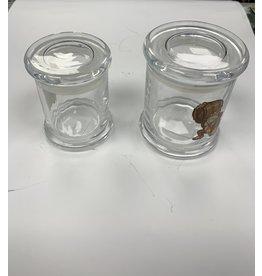 Clear glass jar  X large press top