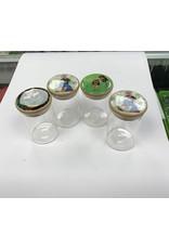 Clear glass jar small press top