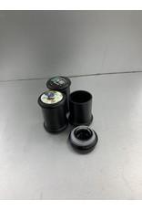 Black glass jar small press top