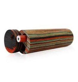 One hitter small round wood box