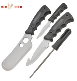 Red Deer Outdoors Camping Axe and Hunting Knife Kit - 4 Pieces