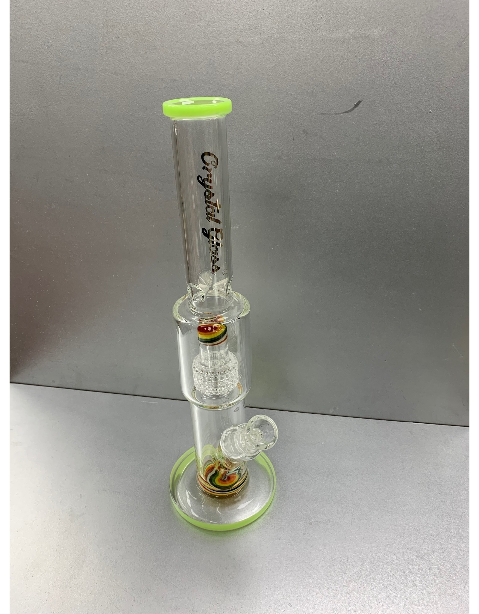 """CRYSTAL GLASS Crystal Glass matrix PERC """"15 water pipe C4039"""
