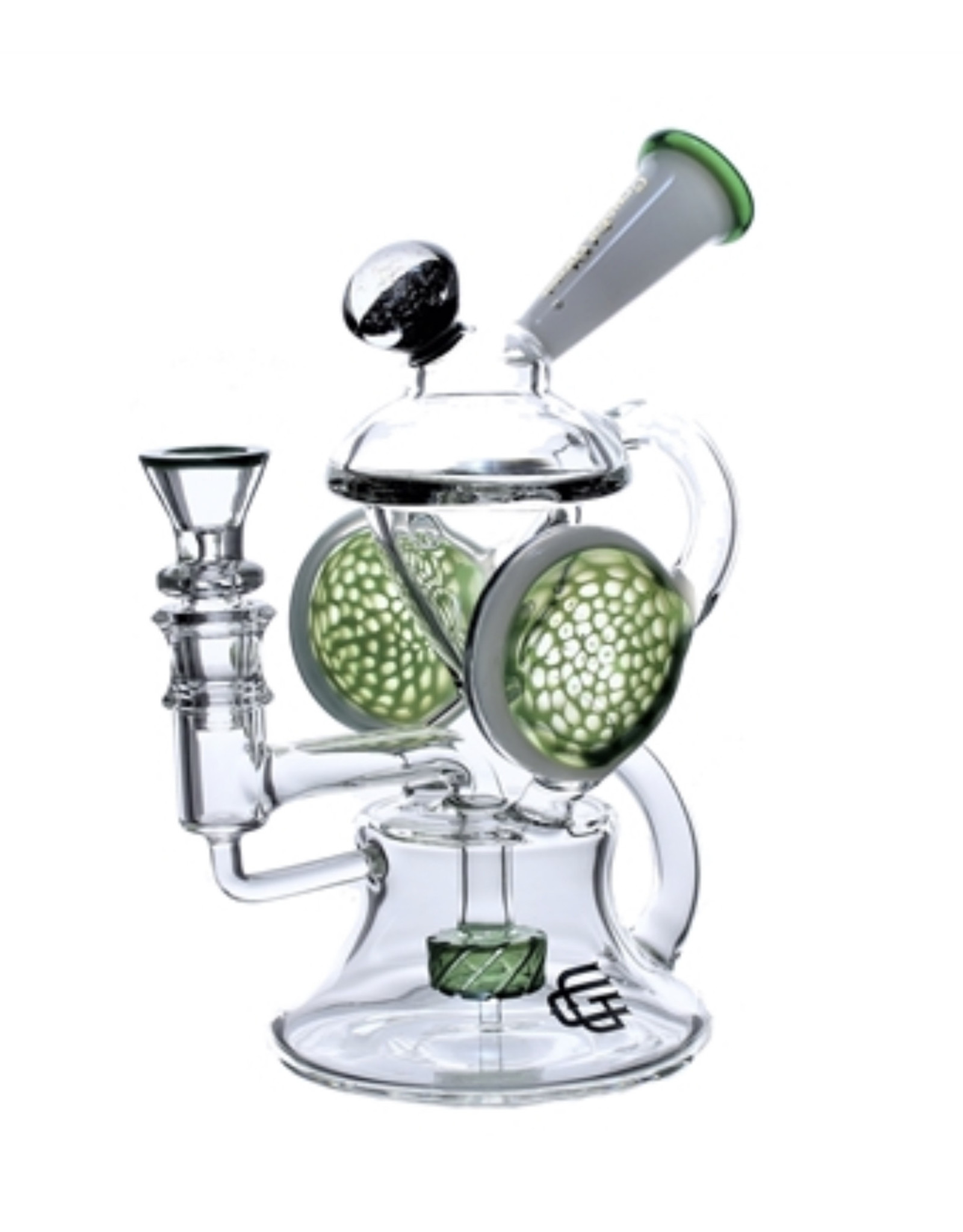 """CRYSTAL GLASS Crystal glass 5""""dap rig recycle C6085"""