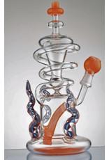 "CRYSTAL GLASS Crystal glass 9""dap rig custom with hard case  C6019"