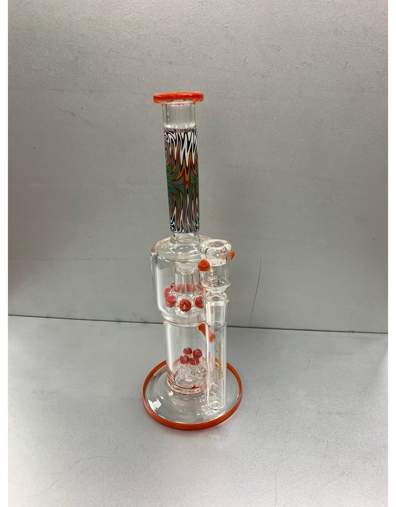 "CRYSTAL GLASS Crystal glass 14""dap rig C1302"