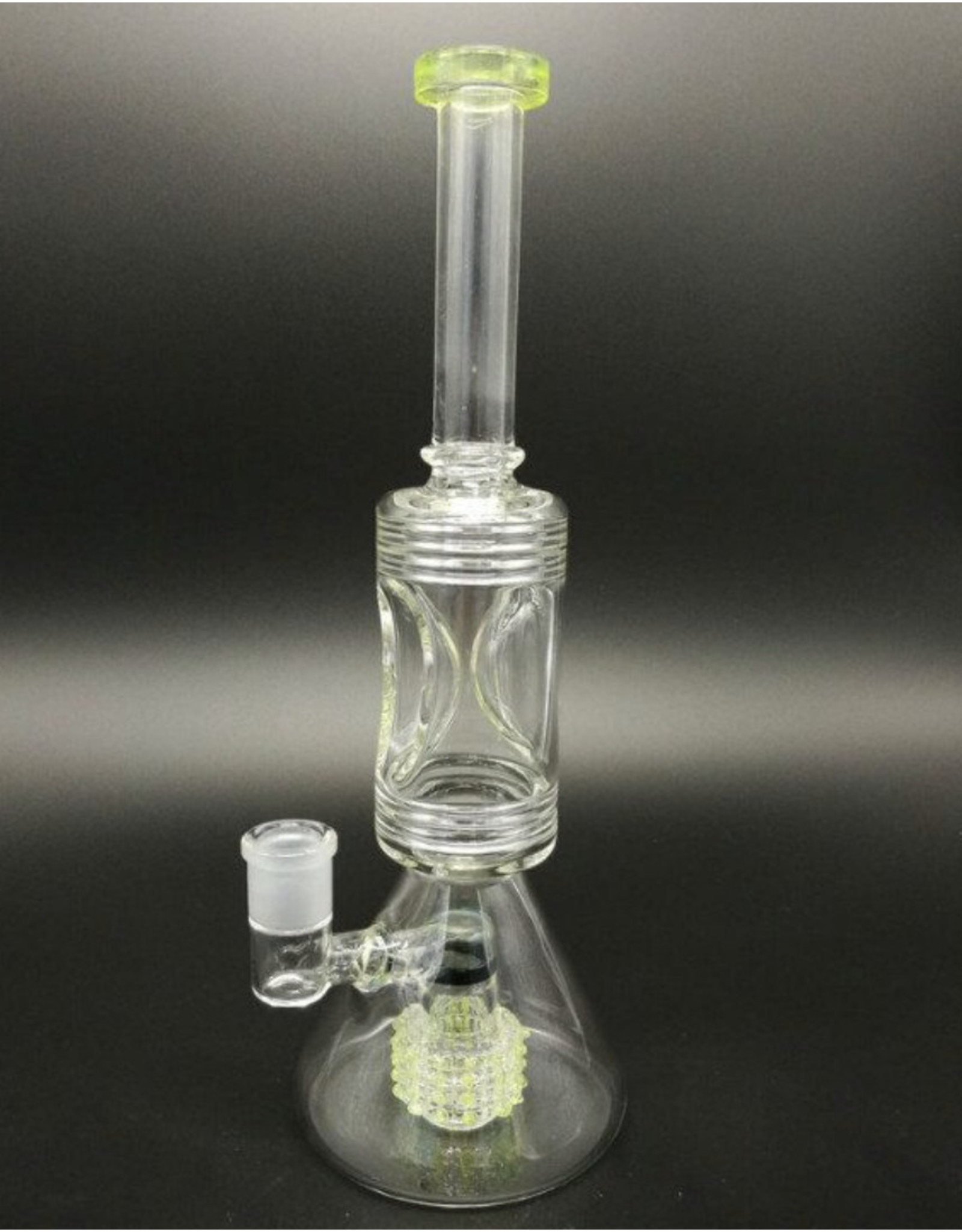 """CRYSTAL GLASS Crystal glass 15""""matrix PERC Water pipe C2117"""