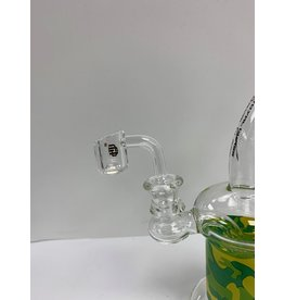 CRYSTAL GLASS BAGER 14MM MALE 90 DEGRE C009