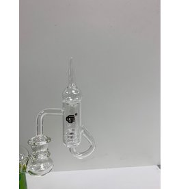 CRYSTAL GLASS BANGER 14MM MALE  WITH GLASS BOWL C060