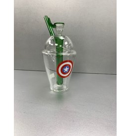 CRYSTAL GLASS GLASS CUP CAPTAIN AMERICA C6030