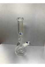 "CRYSTAL GLASS BEAKER WATER PIPE 14"" C2288"