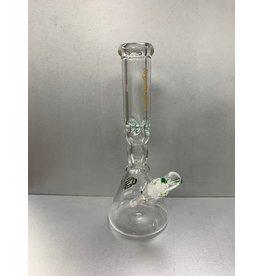 "CRYSTAL GLASS BEAKER WATER PIPE 14"" C2289"