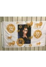 BOB MARLEY AND LIONS FLAG