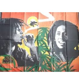 BOB MARLEY SMOKING FLAG