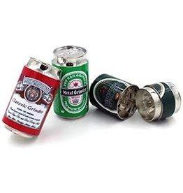 4 Parts Zinc Large Beer Can Grinder Display (6pcs)