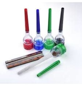 PLASTIC Plastic Funnel 2-piece Grinder w/ Cone Filler Tool
