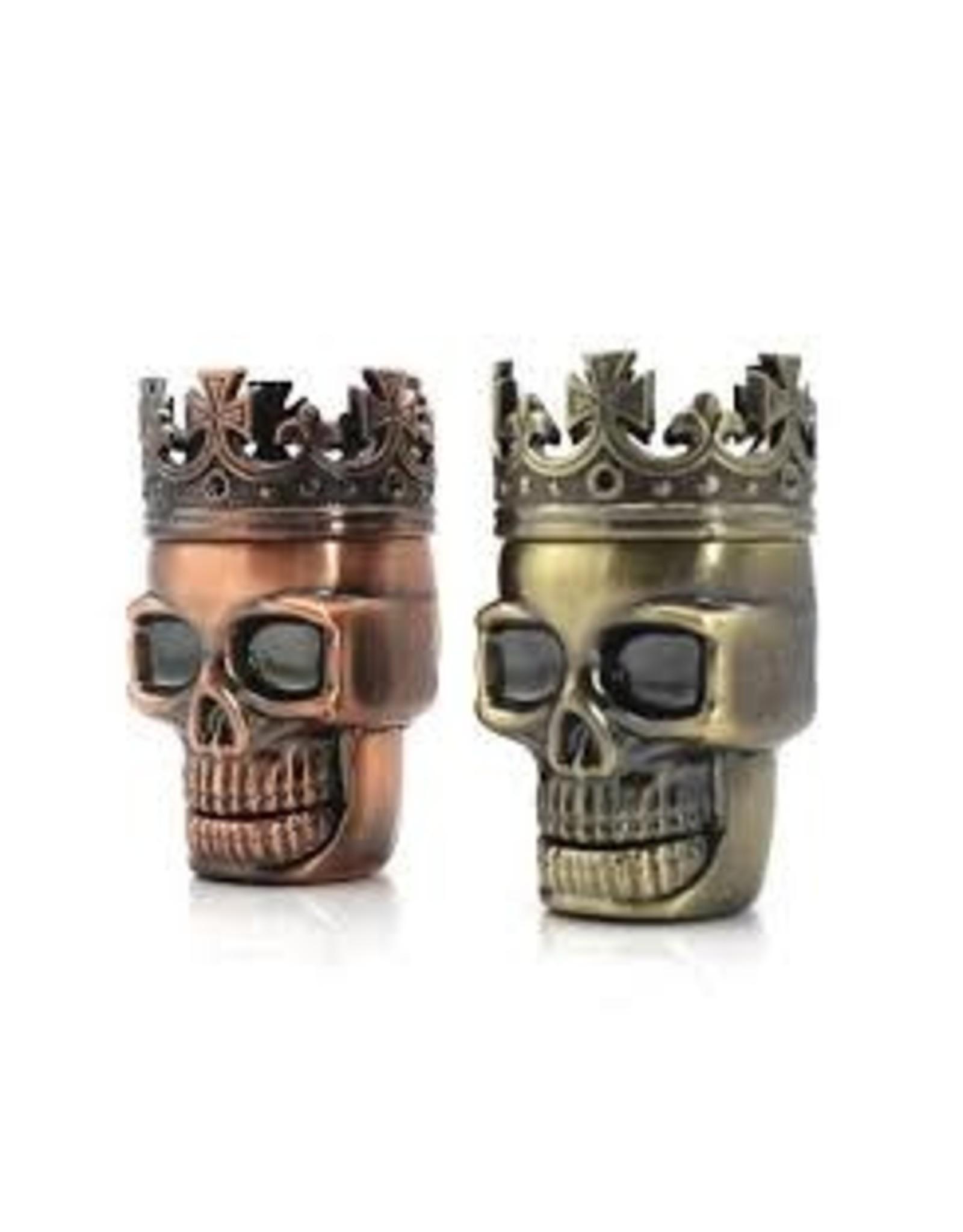 3 Parts Zinc King Skull Grinder Display (6 pcs)
