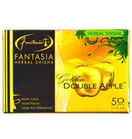 50g Fantasia Herbal Shisha Golden Double Apple