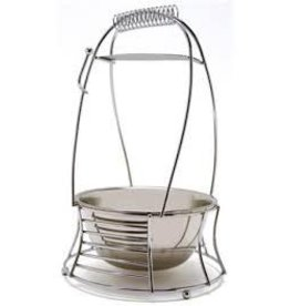 MYA SILVER MEDIUM CHARCOAL BASKET