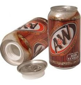 A&W Safe Can, A&W Root Beer Soda Can.