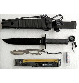 "JUNGLE KING THE JUNGLE KING ULTIMATE SURVIVAL KNIFE - 14"" BLACK"