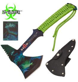 headhunter Z-Slayer Headhunter Tomahawk Throwing Axe With Green Paracord