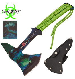 Z-slayer Z-Slayer Headhunter Tomahawk Throwing Axe With Green Paracord