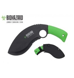 BIOHAZARD Biohazard Curved Serrated Black Zombie