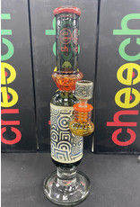 CHEECH GLASS CHEECH GLASS CHE-046 14'' ETCHED WORKED TUBE