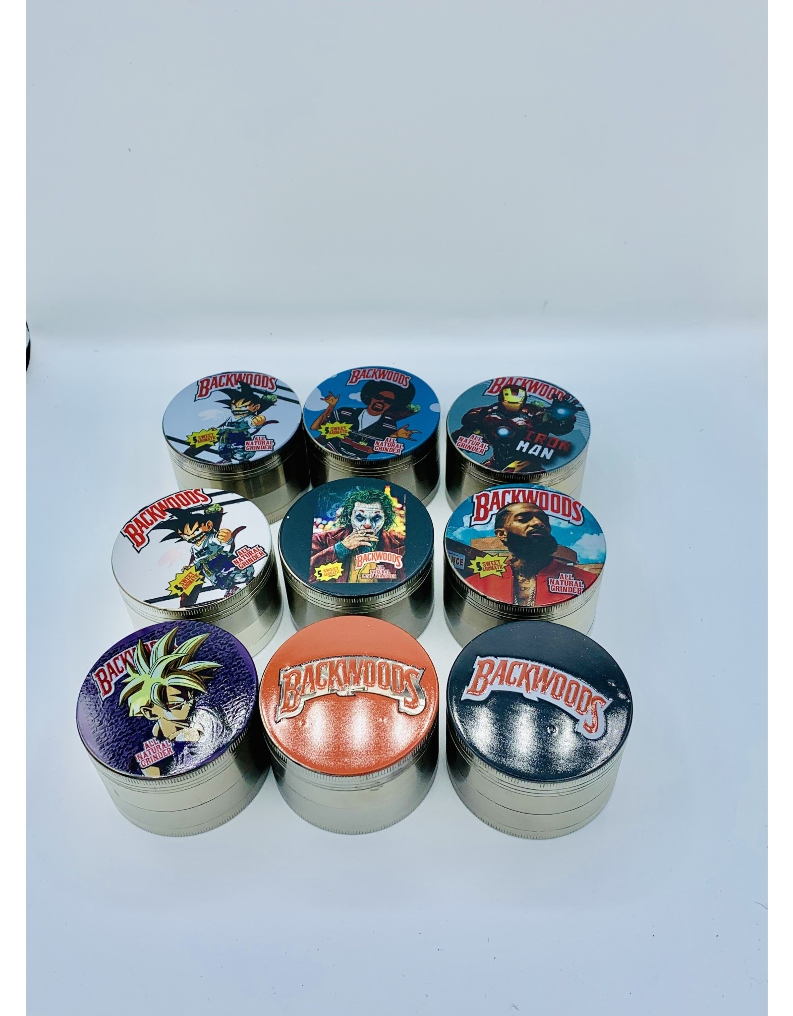 4 PIECE ZINC GRINDER WITH STICKER 2.5