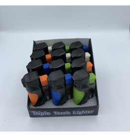 TRIPLE TORCH COLORED LIGHTER PLASTIC MIX COLORS