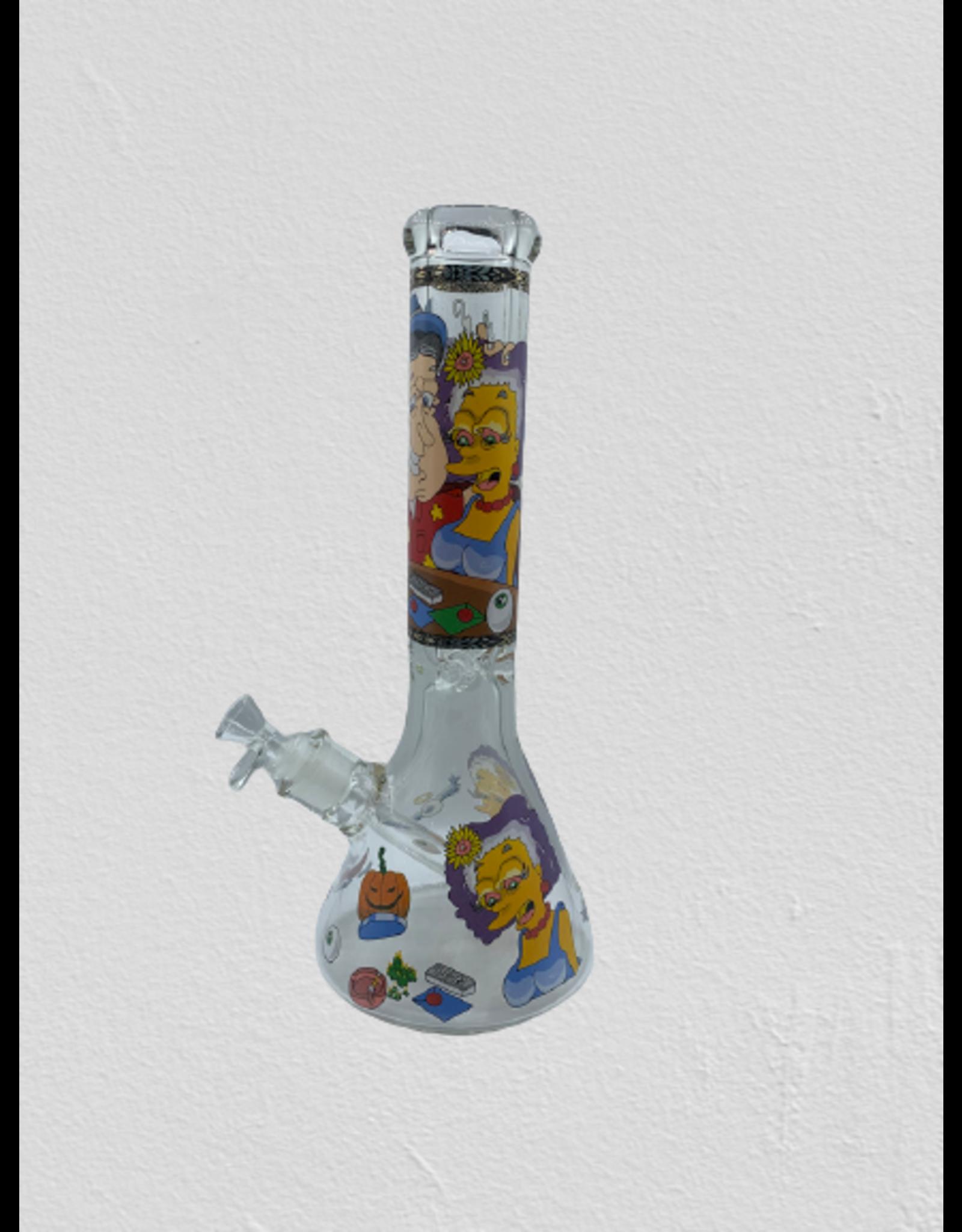 PREMIUM BOROSILICATE GLASS BEAKER WATER  BONG  MG 05 -D