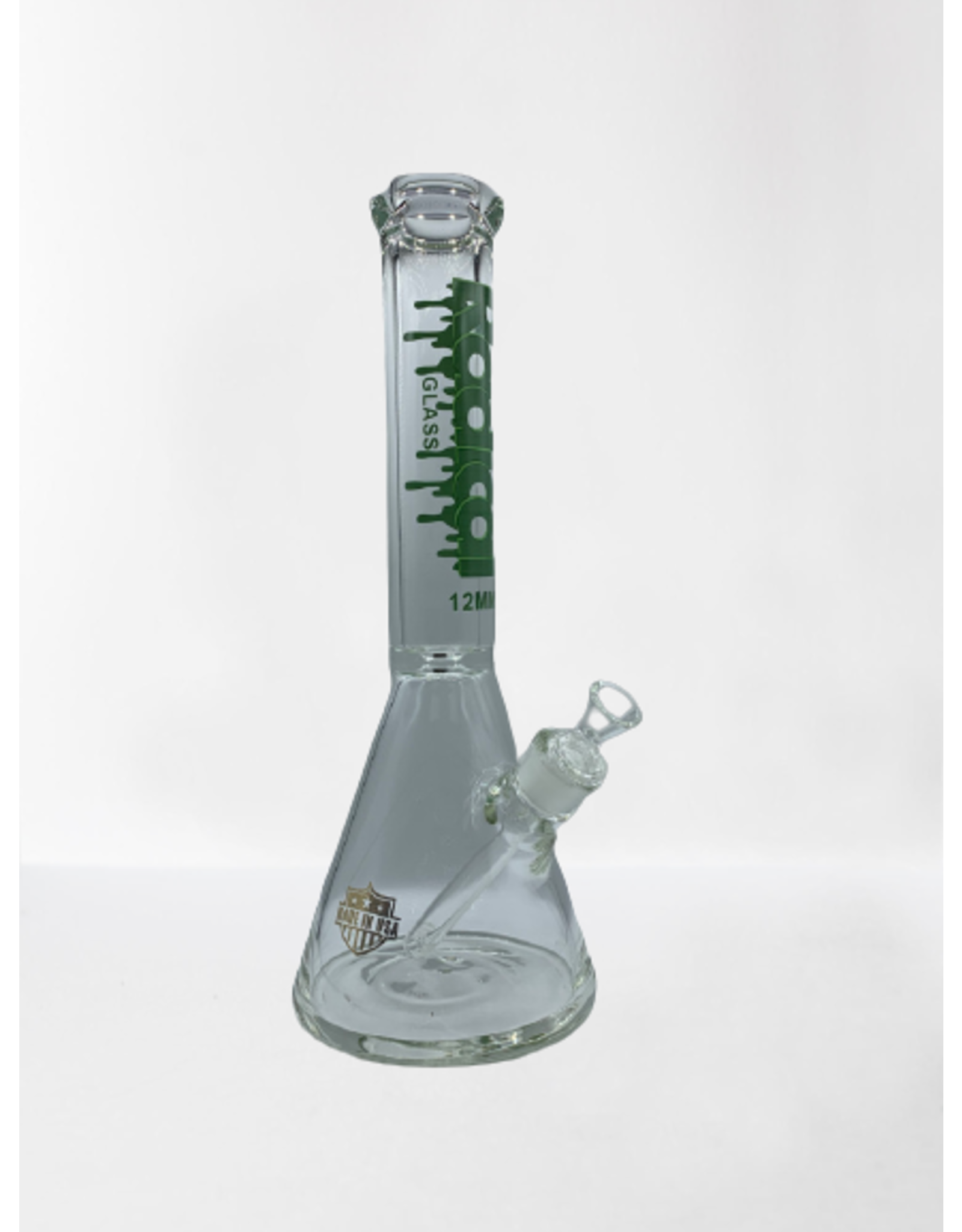 """RADICAL GLASS BEAKER WATER BONG 12 MM-14,96"""""""