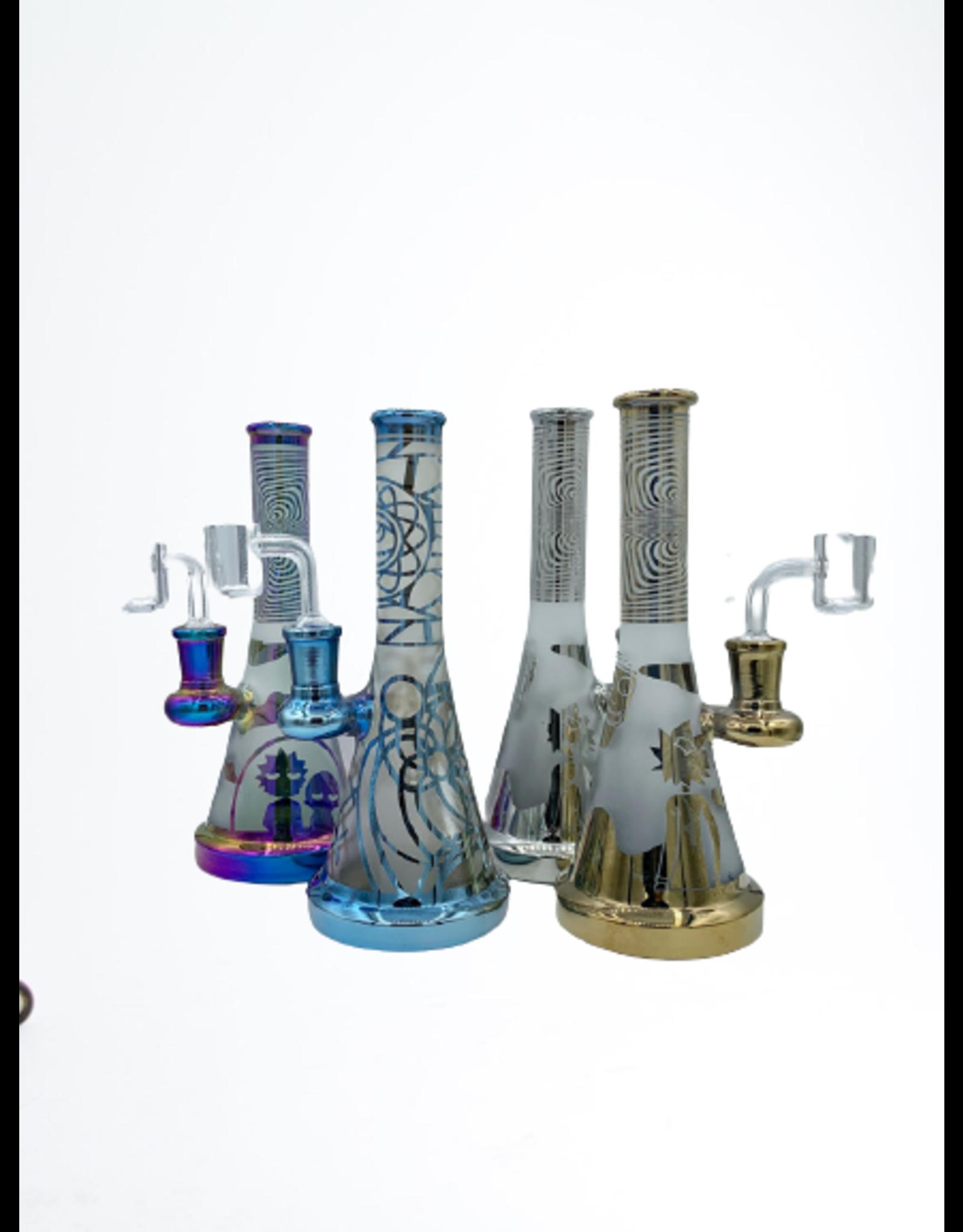 "CRYSTAL GLASS CRYSTAL GLASS 7.7"" DAP RIG C6247-3 MIX COLORS"
