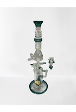 CRYSTAL GLASS CRYSTAL GLASS WATER PIPE C1310 TEAL