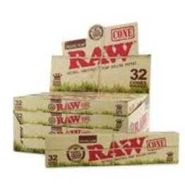 RAW RAW ORGANIC PRE-ROLLED CONE  – 32/PACK