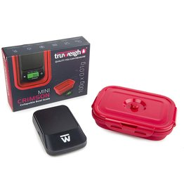 Truweight Truweigh Mini Crimson Scale Collapsible Bowl 100G X 0.01G / Black / Red Bowl