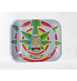 RICKY MORTY LEAF STEEL LARGE ROLLING TRAY