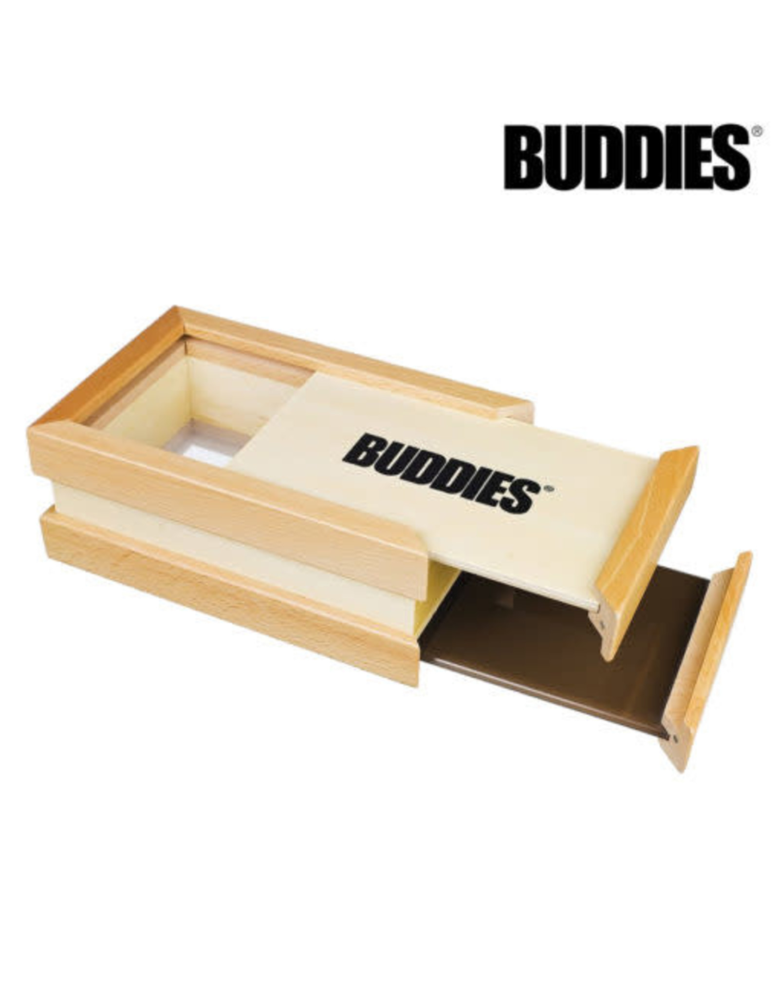BUDDIES BUDDIES­­ WOOD SIFTER BOX