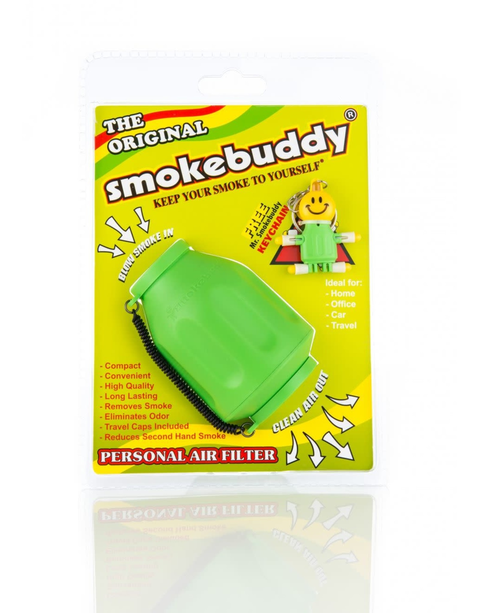 SMOKEBUDDY SMOKEBUDDY PERSONAL AIR FILTER – LIME GREEN